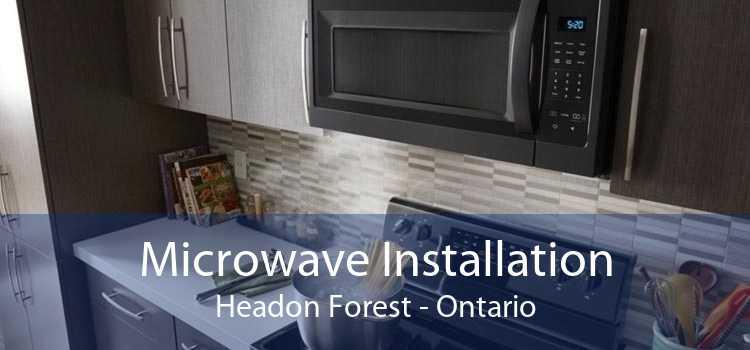 Microwave Installation Headon Forest - Ontario