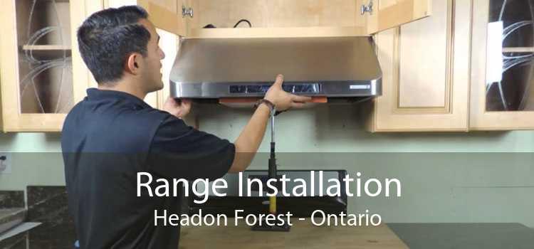Range Installation Headon Forest - Ontario